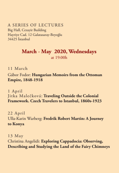 MARCH - MAY 2020, WEDNESDAYS<br>AT 19:00h