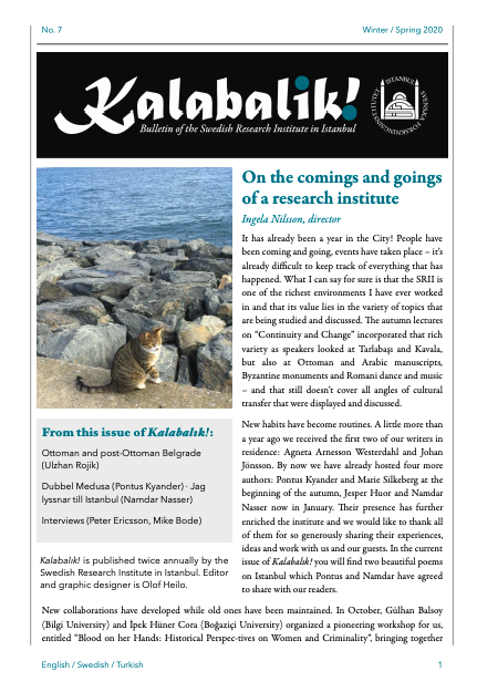 The Latest Issue of Our Bulletin Kalabalik!